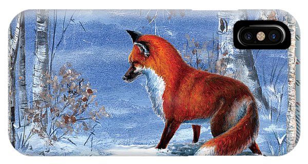 Fox In The Birch Woods IPhone Case