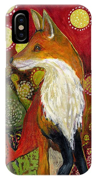 Wildlife iPhone Case - Fox Listens by Jennifer Lommers