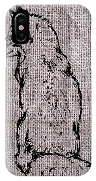 Fox On Burlap  IPhone Case