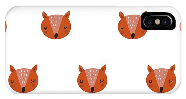 Fox Print Phone Case by Nadezda Barkova