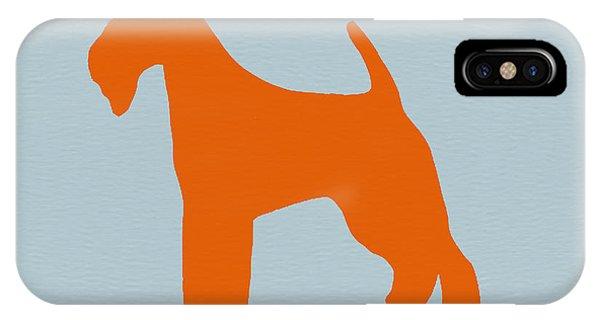 Fox Terrier Orange IPhone Case