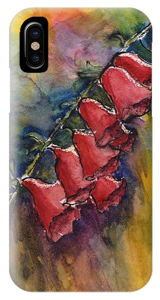 Foxgloves IPhone Case