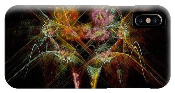 Fractal - Christ - Angels Embrace IPhone Case