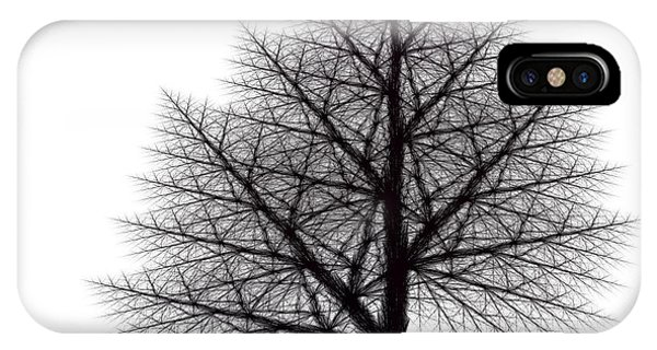 Fractal Essence Of A Tree IPhone Case