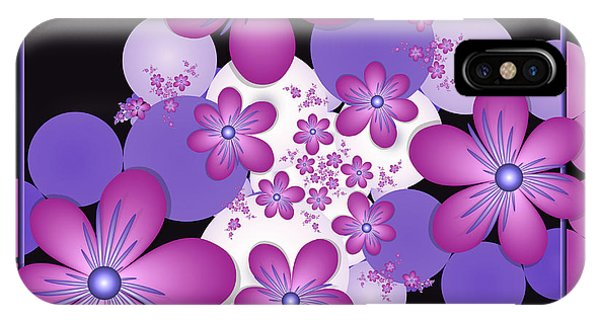 Fractal Flowers Modern Art IPhone Case