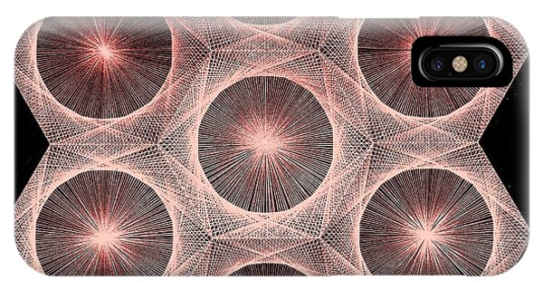 Fractal Fusion Hw Equals Mc Squared IPhone Case