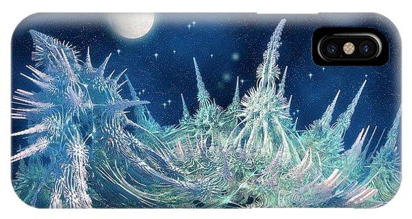 Fractal iPhone X Case - Fractal Landscape by Carol & Mike Werner