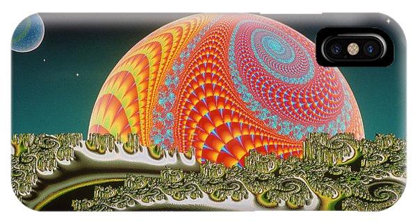 Julia Fractal iPhone X Case - Fractal Landscape: \spiralunar 3d\ by Gregory Sams/science Photo Library