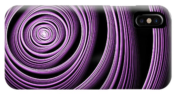 Fractal Purple Swirl IPhone Case