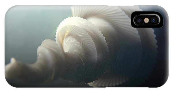 Organic Abstraction iPhone Case - Fractal Seashell  by Pixel  Chimp