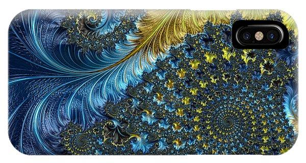 Julia Fractal iPhone X Case - Fractal Spiral 3 - A Fractal Abstract by Ann Garrett