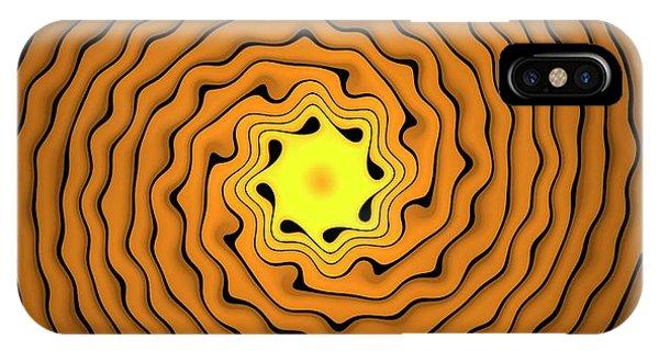 Fractal iPhone X Case - Fractal Spirals by David Parker