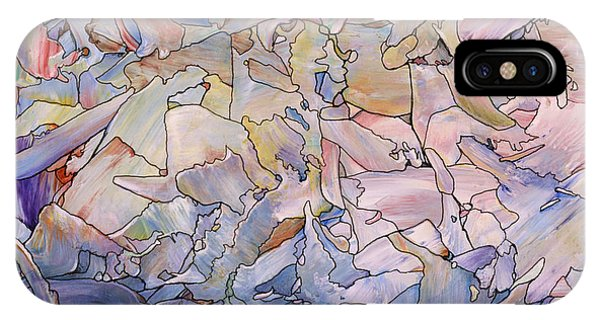 Spirit iPhone Case - Fragmented Sea - Square by James W Johnson