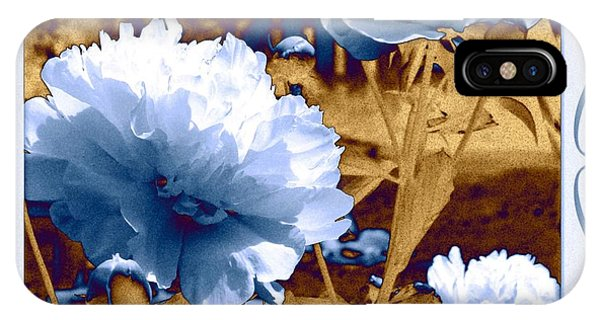 Peony iPhone Case - Framed Peonies by Will Borden
