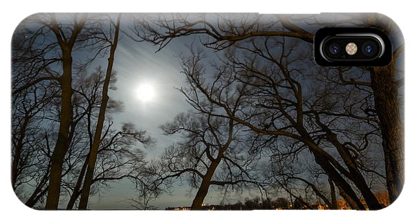 Framing The Moon IPhone Case