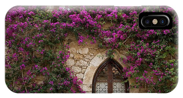 Bougainvillea iPhone Case - France, Provence, Eze by Jaynes Gallery