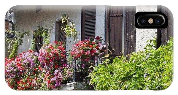 Summer iPhone Case - #france #summer #flowers #balcony by Georgia Fowler