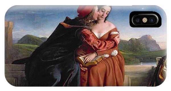 Pre-modern iPhone Case - Francesca Da Rimini, Exh. 1837 Oil On Canvas by William Dyce