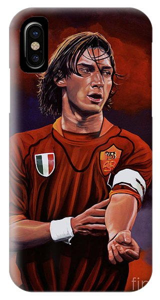 Soccer iPhone Case - Francesco Totti by Paul Meijering