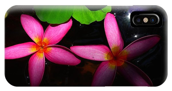 Frangipani Flowers On Water IPhone Case