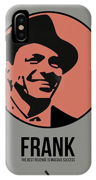 Frank Sinatra iPhone Case - Frank Poster 1 by Naxart Studio