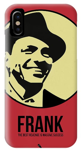 Frank Sinatra iPhone Case - Frank Poster 2 by Naxart Studio