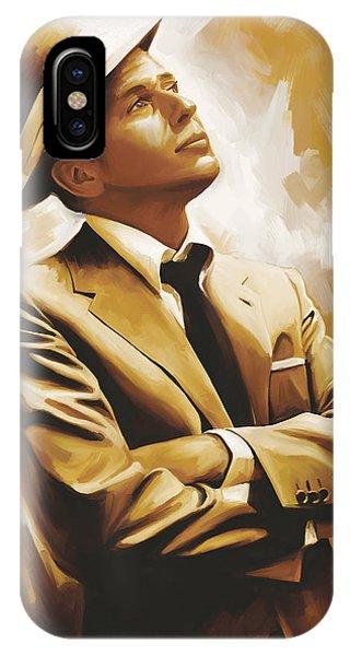 Celebrity iPhone Case - Frank Sinatra Artwork 1 by Sheraz A