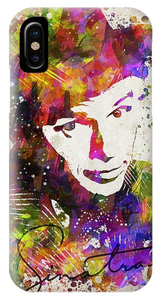 Famous People iPhone Case - Frank Sinatra In Color by Aged Pixel