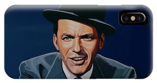 Singer iPhone Case - Frank Sinatra by Paul Meijering