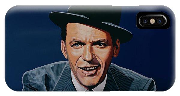 Jazz iPhone X / XS Case - Frank Sinatra by Paul Meijering