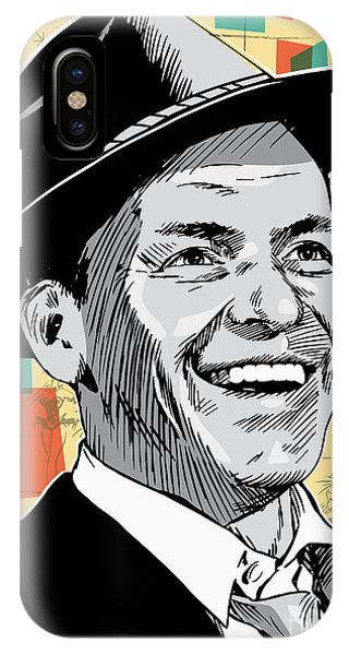 Retro iPhone Case - Frank Sinatra Pop Art by Jim Zahniser