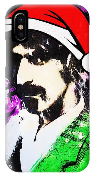 Frank Zappa iPhone Case - Frank Zappa Christmas by Doug Robinson