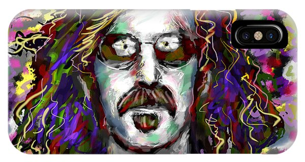 Frank Zappa iPhone Case - Frank Zappa Painting by Ryan Rock Artist