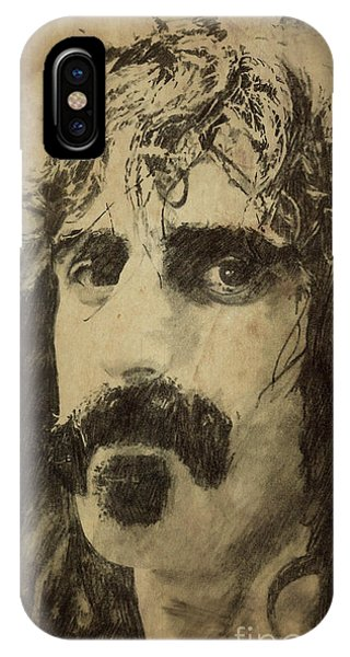 Frank Zappa iPhone Case - Frank Zappa Portrait by Drawspots Illustrations