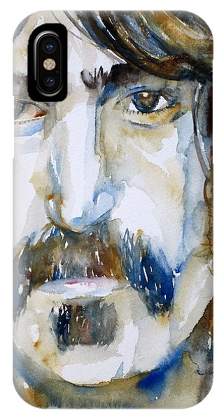 Frank Zappa iPhone Case - Frank Zappa Watercolor Portrait.2 by Fabrizio Cassetta