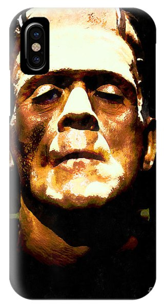 Dark Humor iPhone Case - Frankenstein 20140921wc V1 by Wingsdomain Art and Photography