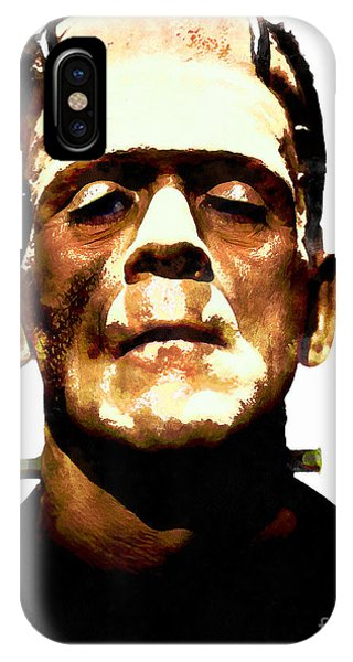 Dark Humor iPhone Case - Frankenstein 20140921wc V2 by Wingsdomain Art and Photography