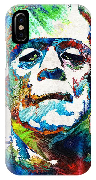 Frankenstein Art - Colorful Monster - By Sharon Cummings IPhone Case
