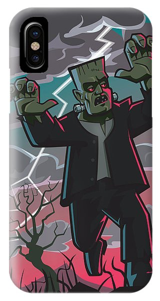 Frankenstein Creature In Storm  IPhone Case
