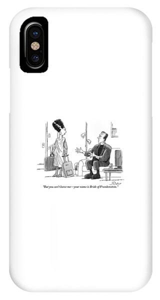 Frankenstein Sits On A Couch Motioning IPhone Case