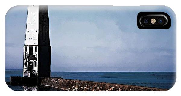 Frankfort Michigan Lighthouse IPhone Case