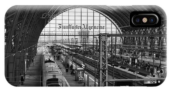 Frankfurt Bahnhof - Train Station IPhone Case