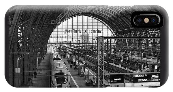 Frankfurt Bahnhof - Train Station IPhone Case