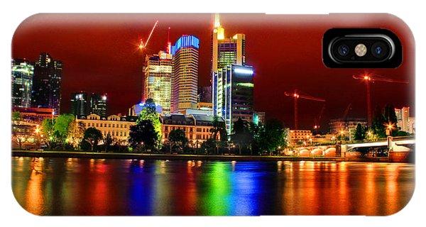 Frankfurt Red Skyline IPhone Case