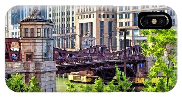 Chicago Franklin Street Bridge IPhone Case