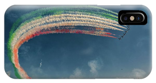 Airplanes iPhone Case - Frecce Tricolori by J. Antonio Pardo