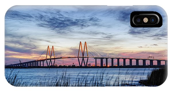Fred Hartman Bridge At Twilight Hour IPhone Case