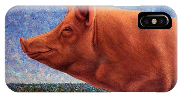 Popular iPhone Case - Free Range Pig by James W Johnson
