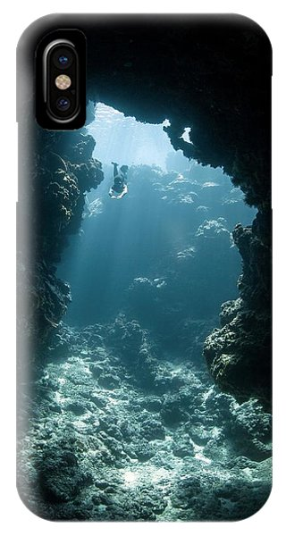 Micronesia iPhone Case - Freediver by Ethan Daniels
