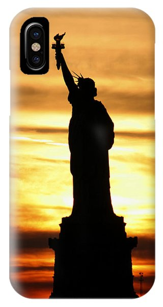 Statue Of Liberty Silhouette IPhone Case